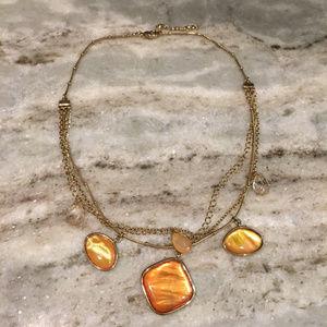 Jewelry - Pink/Peach Jewel Necklace